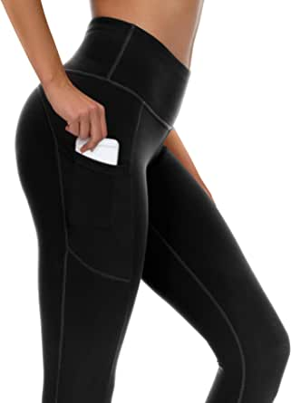 syoss Yoga Pants for Women with Pockets High Waisted Leggings with Pockets for Women Workout Leggings for Women
