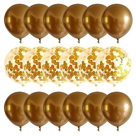 Balones de celebración, 18pcs del cromo del metal oro plata globos ...