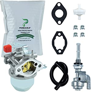 0C1535ASRV Carburetor Tune-Up Kits with Fuel Shut ON Off Valve Tap Switch Gas Fuel Tank Valve Petcock Switch for Generac 0C1535AESV C1535ASRV 97747 0C1535 C1535 4000XL 4000EXL GN220 GN 220 GH220HS