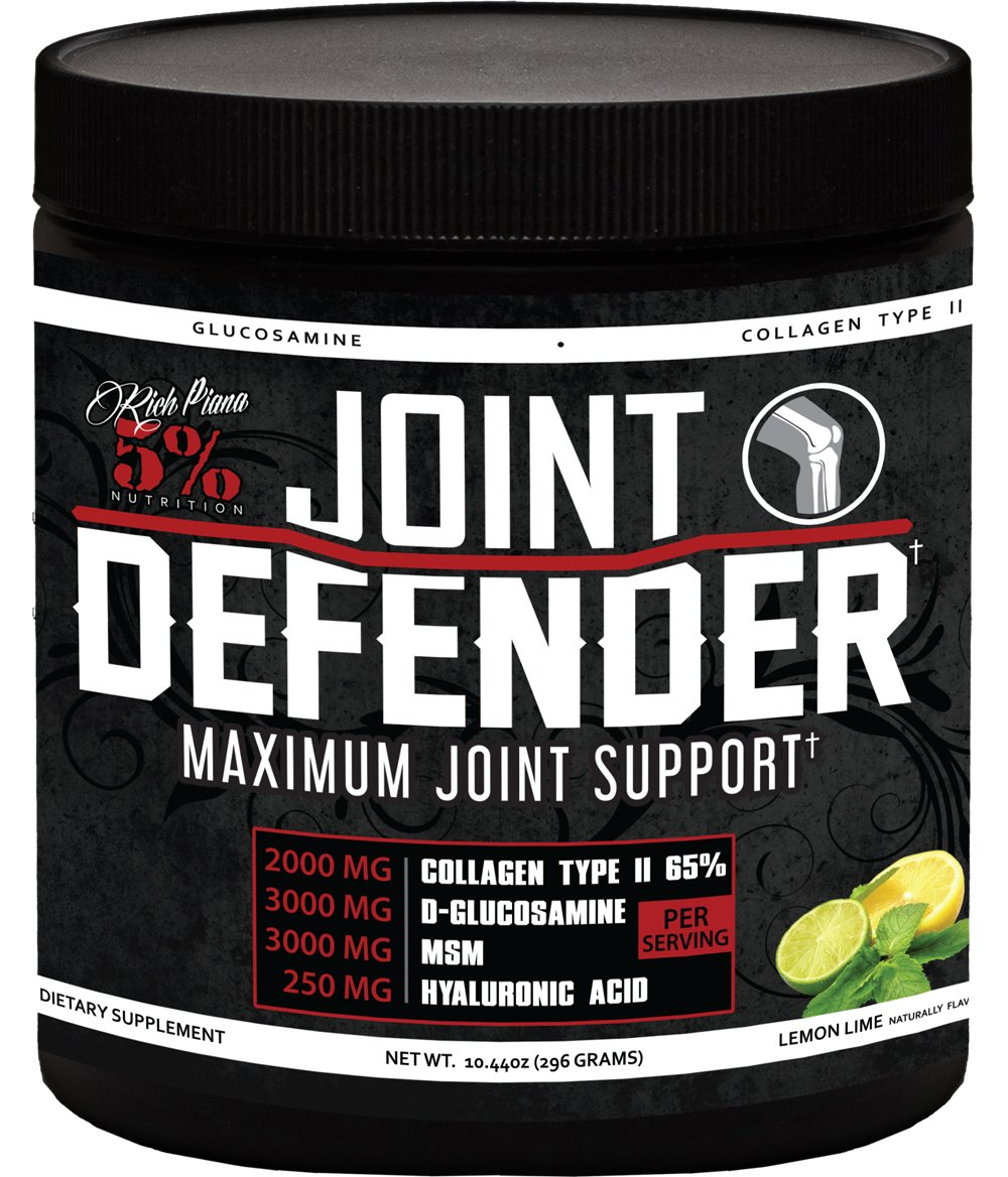 Rich Piana 5% Nutrition Joint Defender Maximum Joint Support (Lemon Lime) 10.44oz (296g)