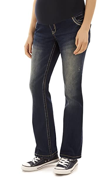 c7684dba297e0 Amazon.com: WallFlower Maternity Bootcut Jeans in Katy Size:JXS ...