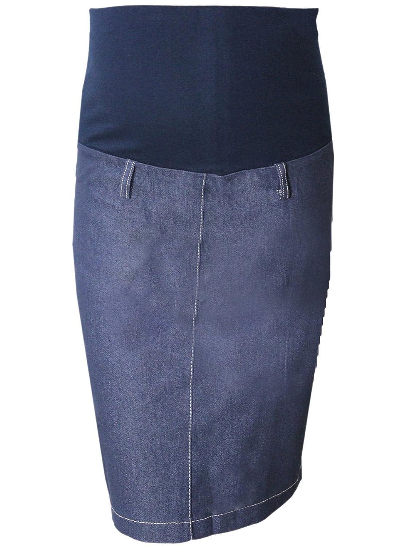 74457836156c6 Pink Pixie Maternity Pregnancy Over Bump Denim Pencil Wiggle Skirt:  Amazon.co.uk: Clothing