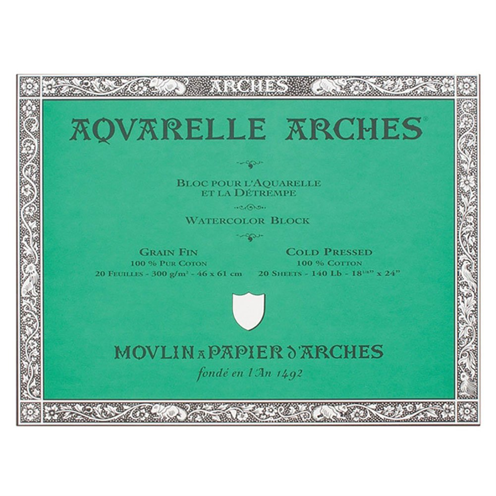 Arches Aquarelle Watercolor Block 140 lb. cold press 18 in. x 24 in. by Arches