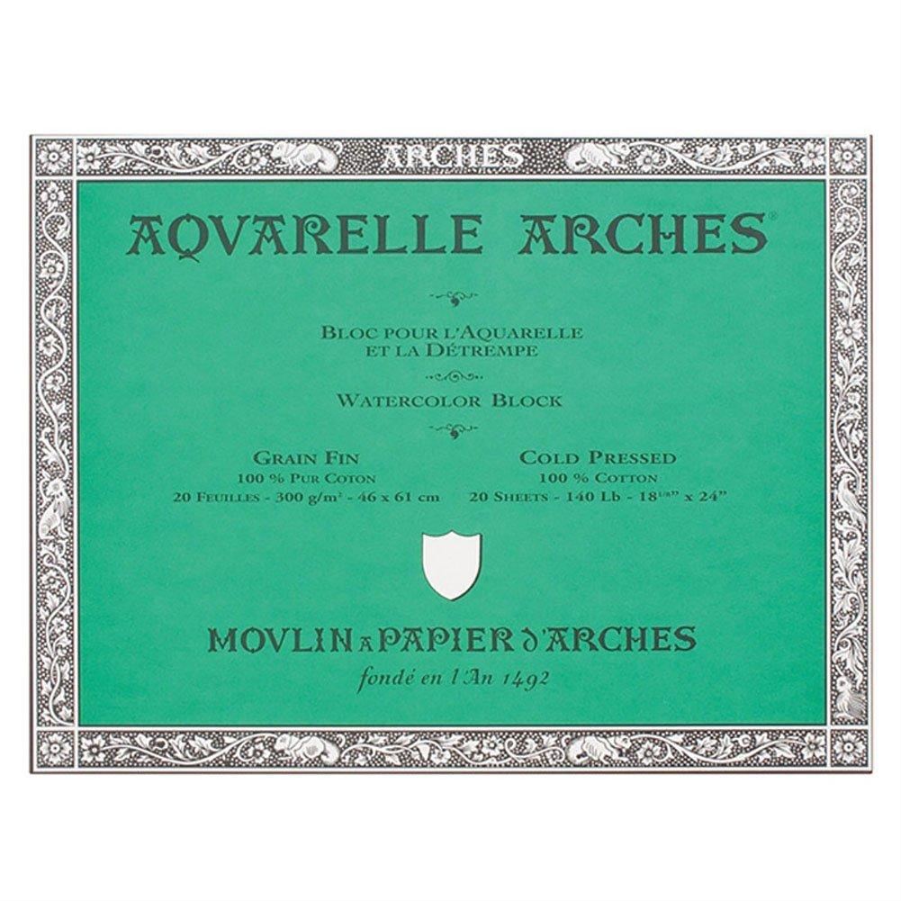 Arches Aquarelle Watercolor Block 140 lb. cold press 18 in. x 24 in.
