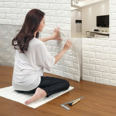 Removable Wallpaper Belief 3d Tile Brick Pattern Peel And