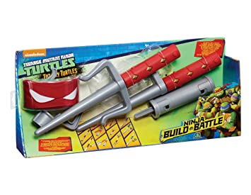 Totally Turtles Ninja Build N Battle Roleplay - Raph: Amazon ...
