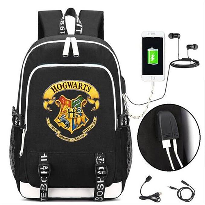 AUGYUESS Mochila Escolar Portátil Mochila de Hombro Bolsa de Libros Harry Potter con Puerto de Carga USB: Amazon.es: Electrónica