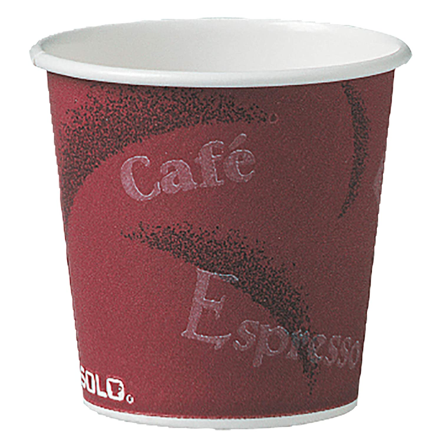 Solo 374SI-0041 4 oz Bistro SSP Paper Hot Cup (Case of 1000)