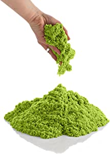 CoolSand Green 14 oz Refill Pack - Moldable Indoor Play Sand in Resealable Bag
