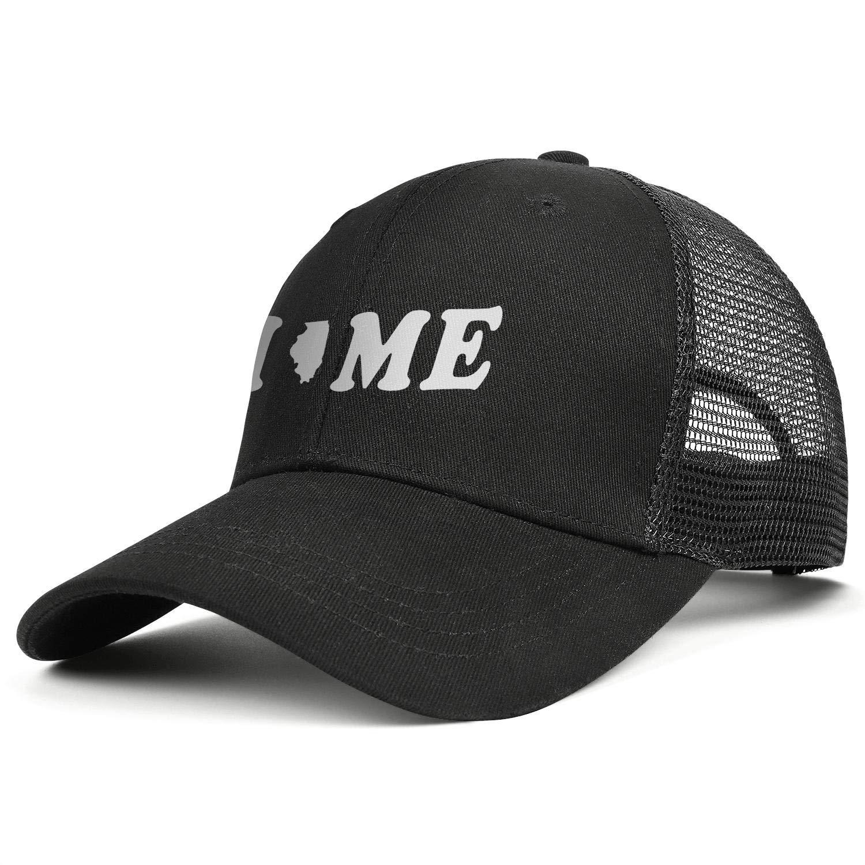 Home Illnois Sticker Sun Hats Adjustable Unisex Mesh Cap Duck Tongue Caps Beautiful Caps
