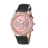 Womens Geneva Quartz Watches,Ulanda-EU Numera Analog Clearance Lady Wrist Watch Female watches on Sale Watches for Women,Round Dial Case Comfortable Leather Wristwatch u32