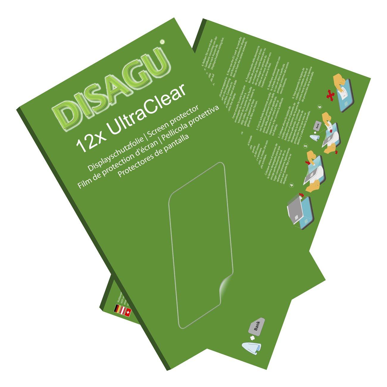 DISAGU Conjunto de 12 lá minas Protectoras de Pantalla Ultra Claras para Sony FDR-AX33 #uc7132