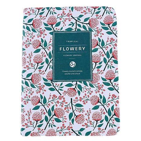 Ellepigy Creative Cute Floral Flor Calendario Libro Agenda ...