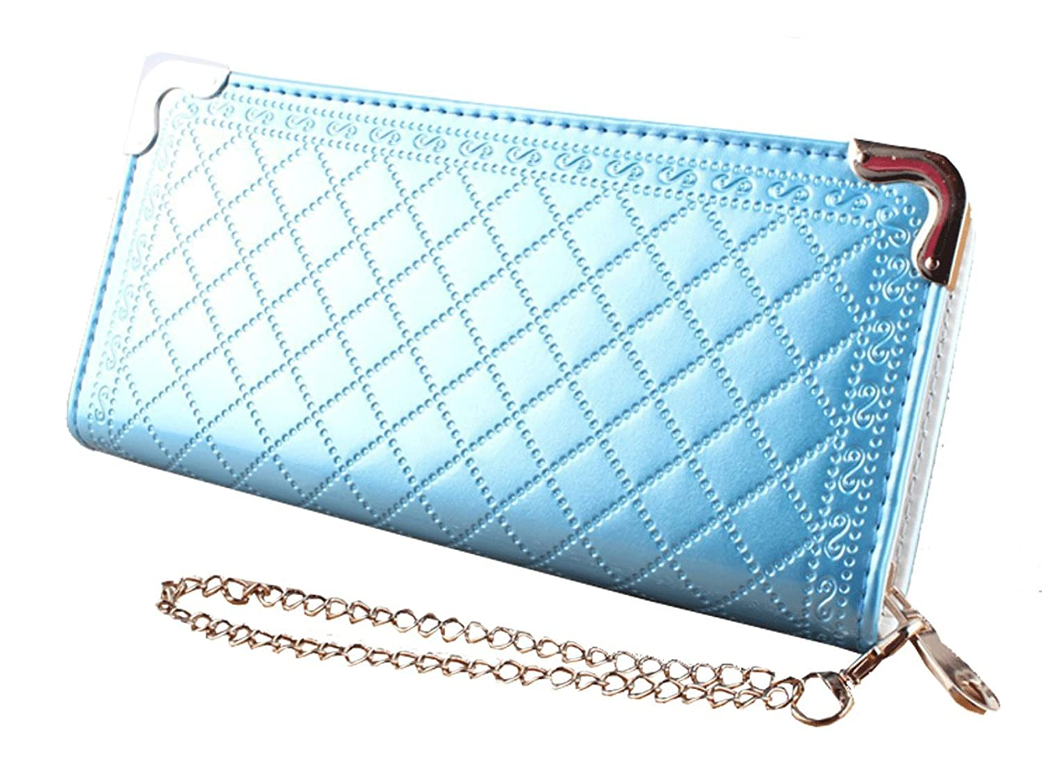 Unomatch Women's Novelty Clutch Wallet with Metal Chain