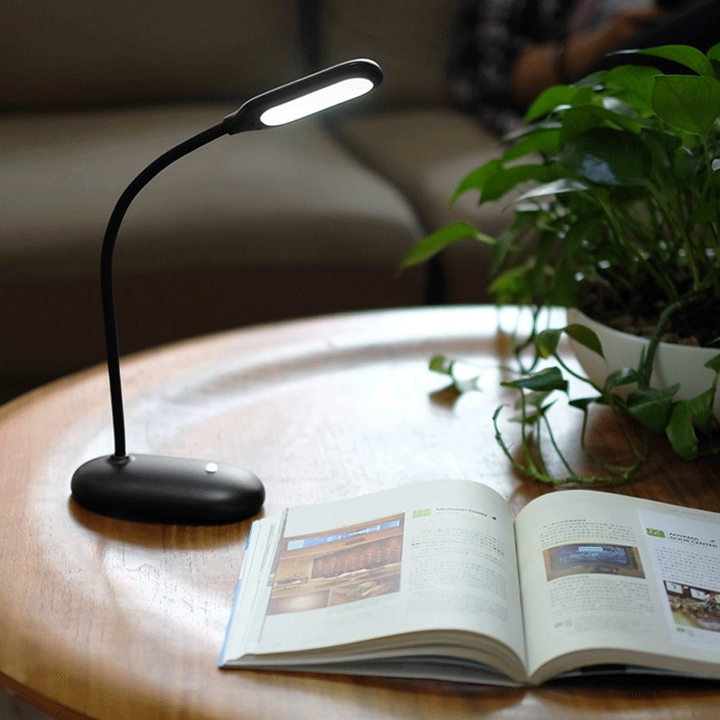 CHX Table Lamp Charging Energy Saving Dimming Desk Learn Protect Eyesight Read Small Table Lamp CHXV (Color : BLACK)
