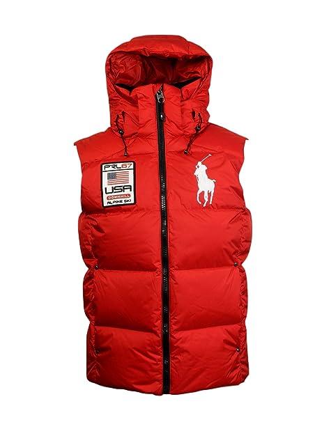 Pony Ralph Polo Big Alpine Puffer Lauren VestsRed Patch Ski Ygb6fv7y