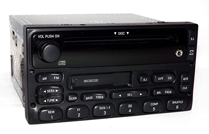 1 Factory Radio AM FM CD Cassette Player Compatible With 1999-10 Ford Ranger XL2F-18C868-AB