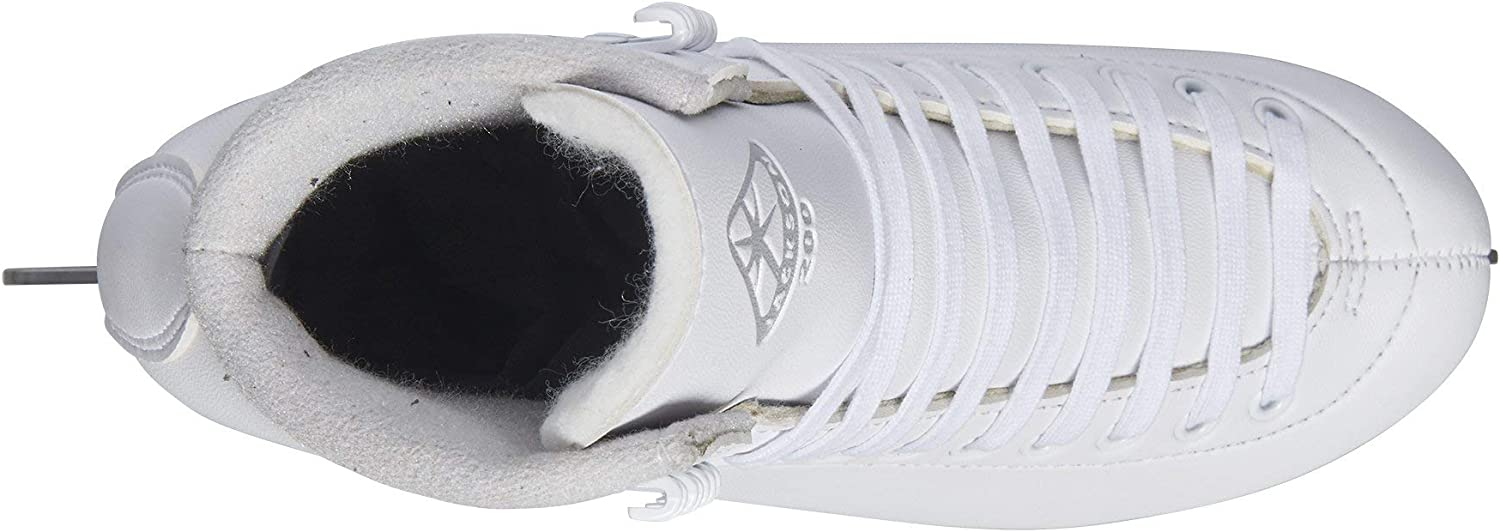JC200.WH.040 Olympian Quality Ice Skates Jackson Ultima Jackson Classic Figure Skates for Women and Girls in White Womens Size-4.0