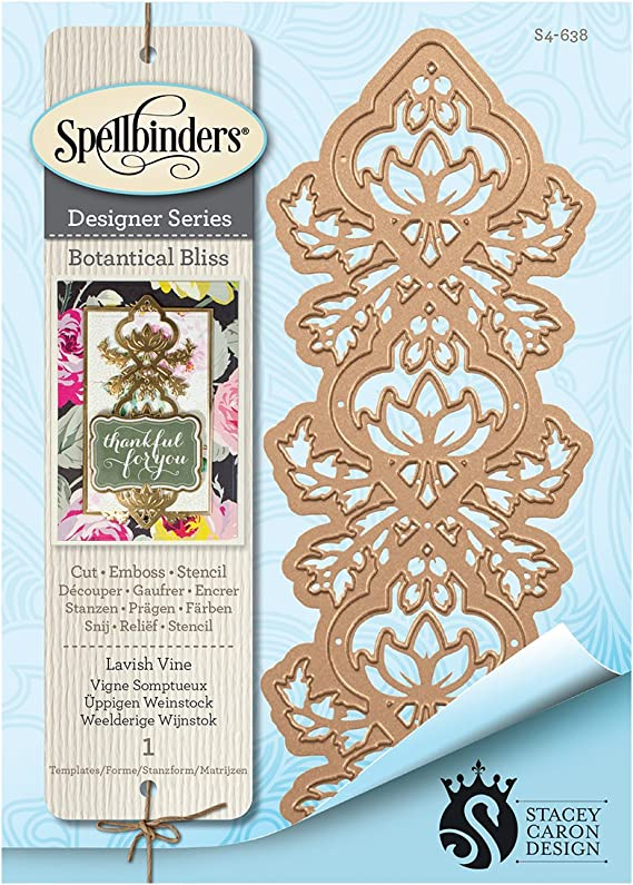 Spellbinders Shapeabilities Opulent Flourish Accents Rouge Royale by Stacey Caron Etched Dies S4-686