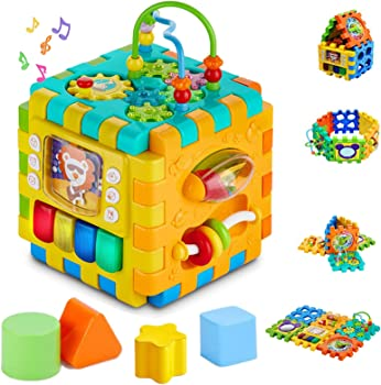 Sytle-Carry 6-in-1 Matching Activity Cube For Babies