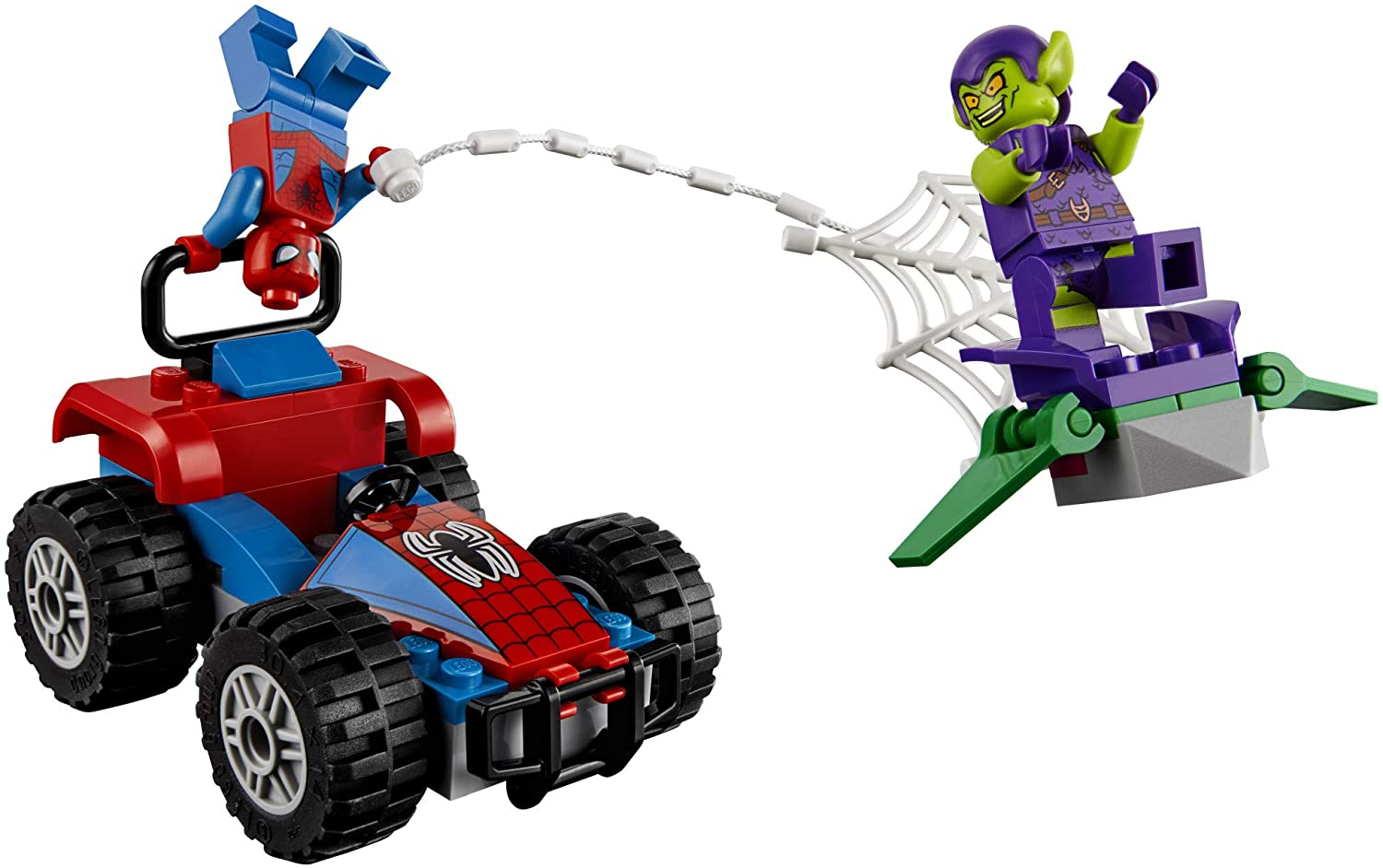 LEGO Marvel Spider-Man Car Chase 76133 Building Kit Green Goblin and Spider Man Superhero Car Toy Chase 52 Pieces Discontinued by Manufacturer