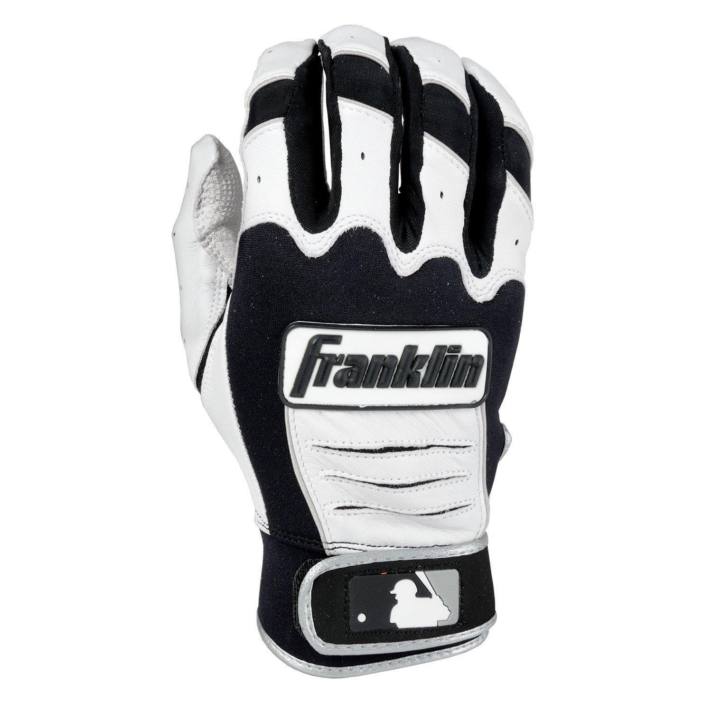 black and white batting gloves