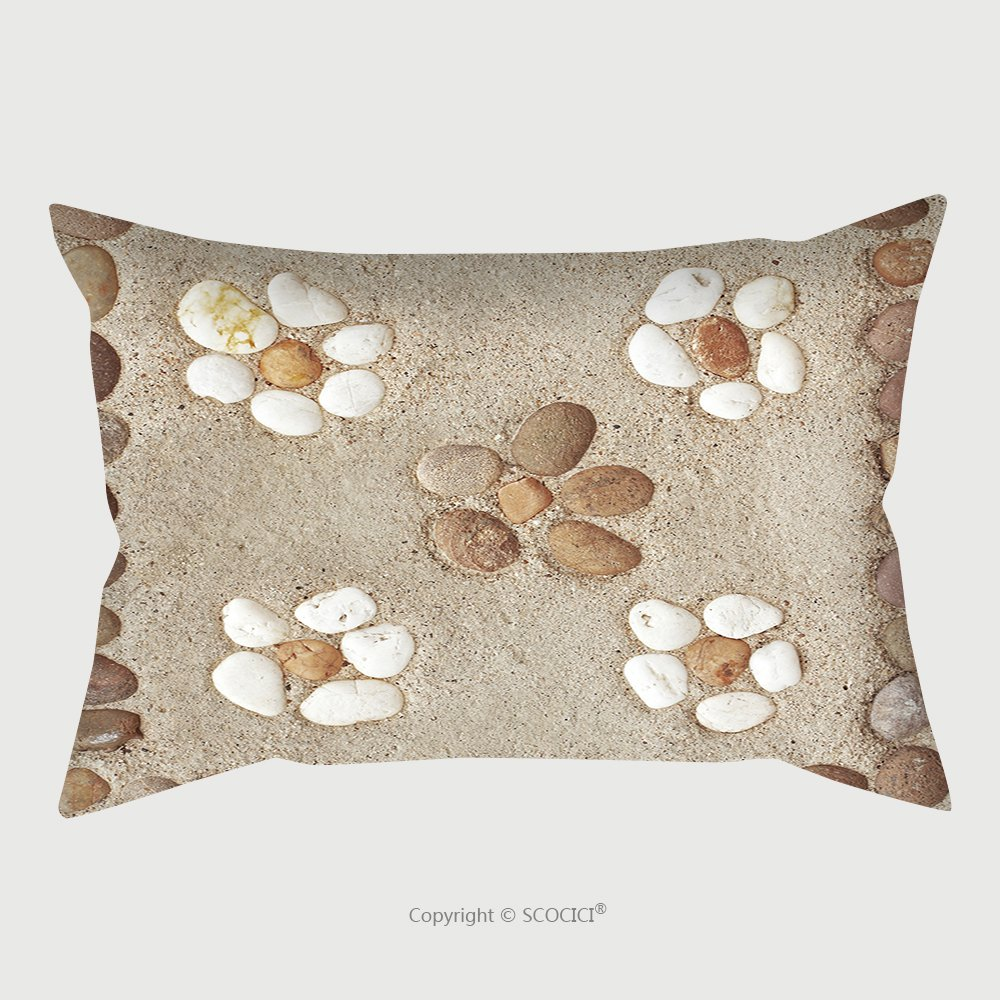 Custom Satin Pillowcase Protector Pattern Of Decorative Stone On Cement Floor 258786992 Pillow Case Covers Decorative