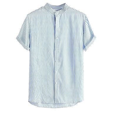 NINGNETI Camisetas Manga Corta Hombre Tallas Grandes Camisa con ...