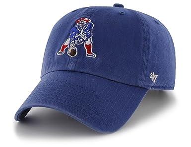 c93f4674d0be2 New England Patriots Clean Up Cap - Throwback Logo - Royal Blue   Baseball  Caps   Clothing