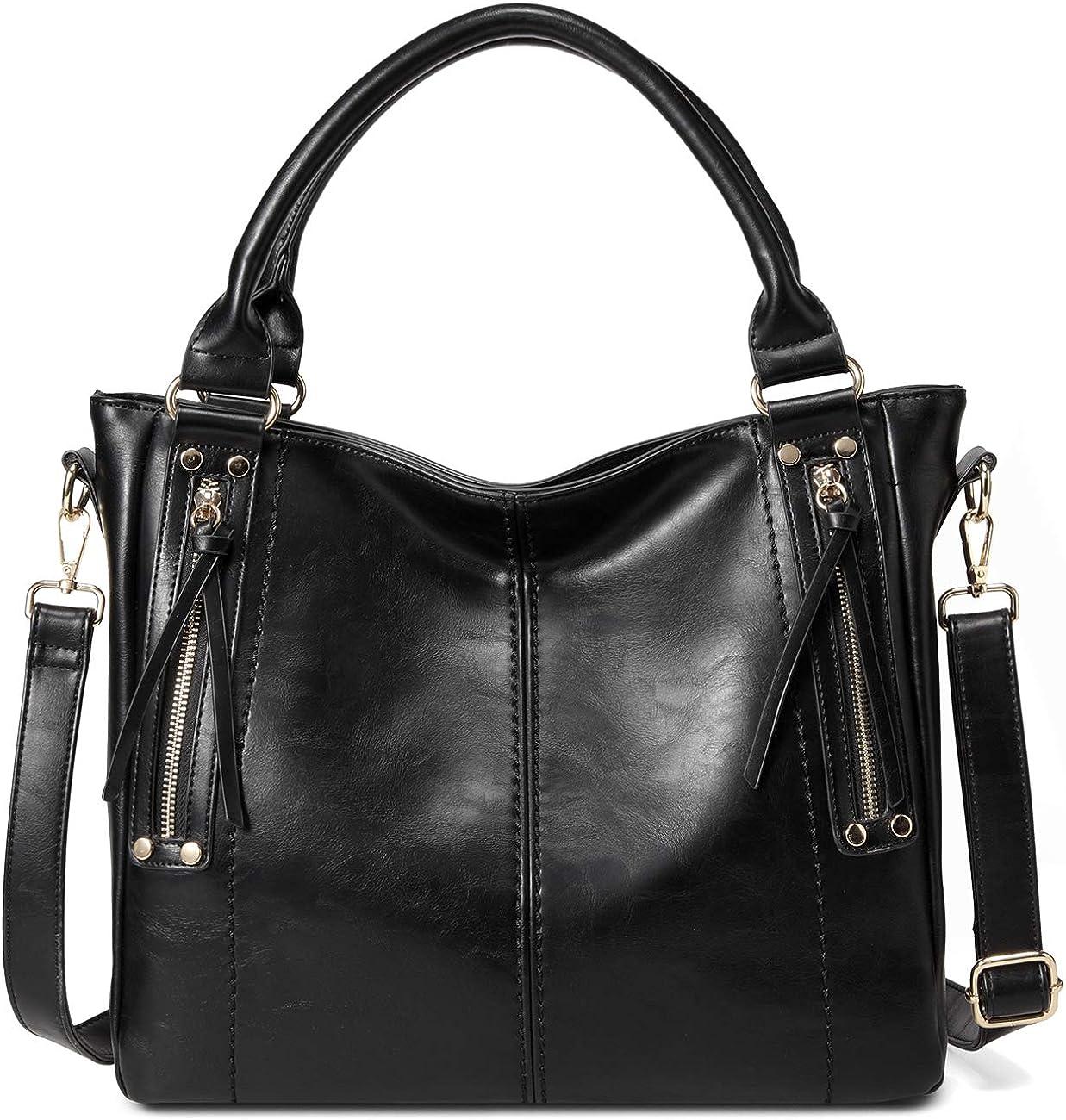 Hobo Bags for Women, VASCHY Fashion Faux Leather Handbag for Ladies Tote Shoulder Bag with Detachable Shoulder Strap