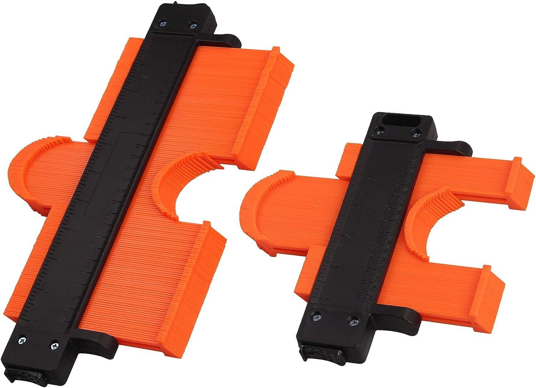 Neoteck 2x Medidor de Contornos con Bloqueo de 120mm 250mm Herramienta de Calibre de Duplicación de Contornos Medidor de Perfiles para Esquinas, Plantillas de Carpintería, Azulejos y Laminados