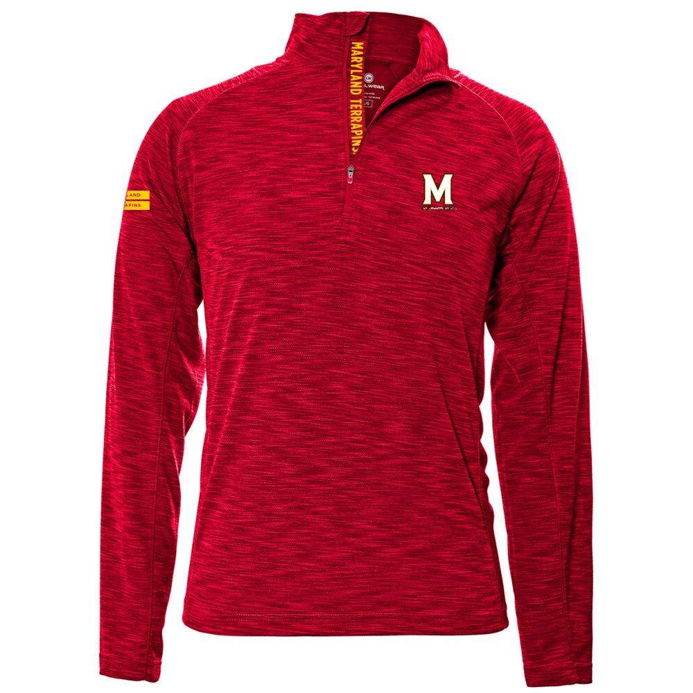 Levelwear LEY9R NCAA クオータージッププルオーバー ストロングスタイル ミッドレイヤー B074PJ6DWF Small レッド(Flame Red) Maryland Terrapins レッド(Flame Red) Small