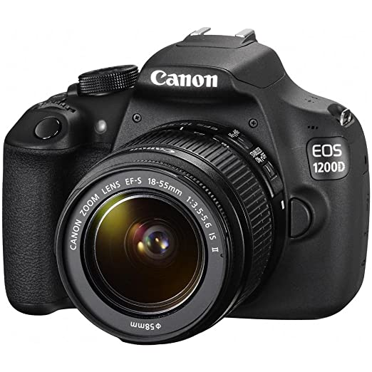Canon EOS 1200d negro Kit 18 - 55 mm IS II Sensor CMOS 18 Mpx ...