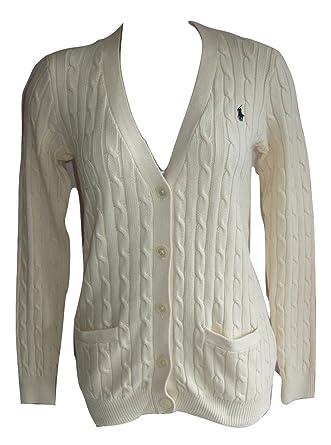 4afd72b247c4d Ralph Lauren - Gilet - Femme Bleu Bleu Marine Taille Unique - Blanc cassé -  Small
