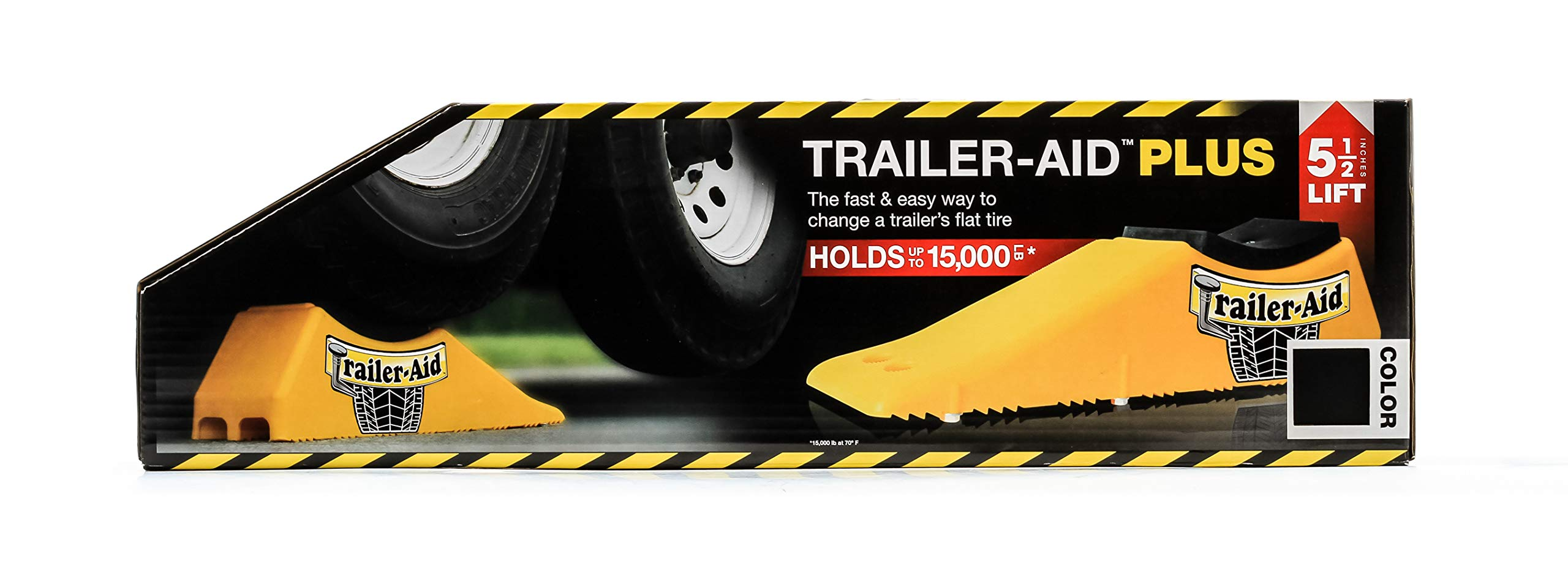 Trailer Aid ''Plus Tandem Tire Changing Ramp, The Fast Easy Way To Change A Trailer's Flat Tire, Holds up to 15,000 Pounds, 5.5 Inch Lift (Black)