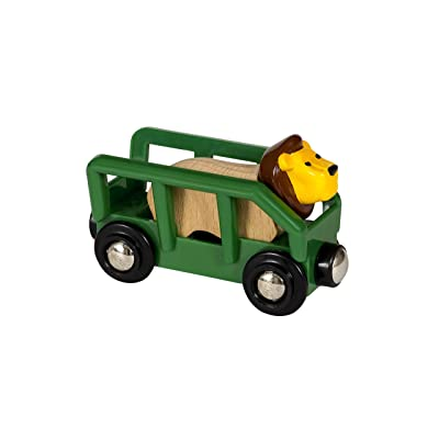Brio 33966 World-Safari Lion & Wagon,: Toys & Games