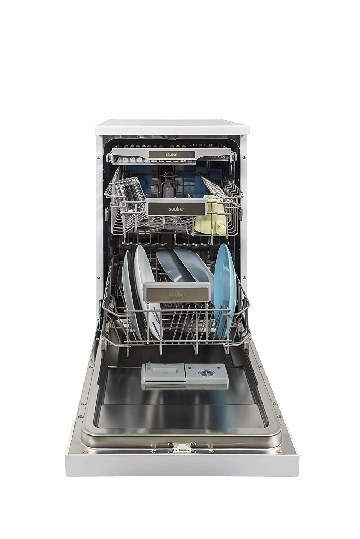 Sauber - Lavavajillas 45 cm SDW45I A++ 11 cubiertos - Acero inoxidable - 3 bandejas
