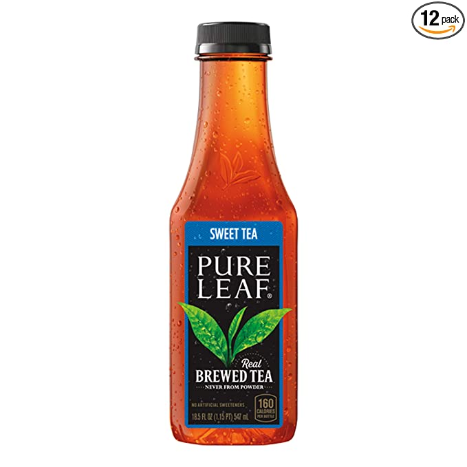 Amazon Com Pure Leaf Iced Tea Bottles Sweet 222 Fl Oz Pack Of 12 Grocery Gourmet Food