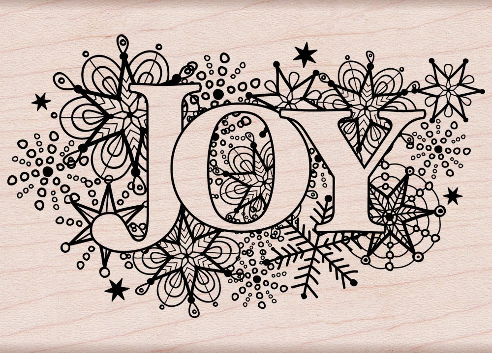 Hero Arts K5852 Joy Burst Woodblock Stamp