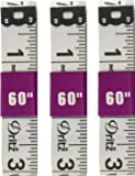3 pack - Dritz Vinyl Tailoring Tape Measure for Sewing, 5/8 by 60-Inch