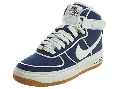 Nike Air Force 1 High LV8 Big Kids' Shoes Binary BlueSail Black 807617 400 (7 M US)