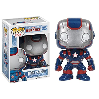 Funko POP Marvel Iron Man Movie 3: Iron Patriot Action Figure: Toys & Games