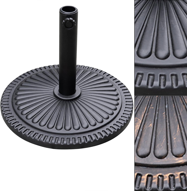 DOIFUN 22 lbs Patio Umbrella Base Heavy Duty 18 inch Diameter Table Umbrella Stand Base Outdoor Market Umbrella Holder for Deck, Lawn, Garden, Pool(Black)