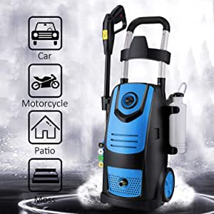 Suyncll High Power Washer Electric Pressure Washer,3800PSI 2.8GPM Pressure Washer Car Patio Garden Yard Cleaner(Blue)