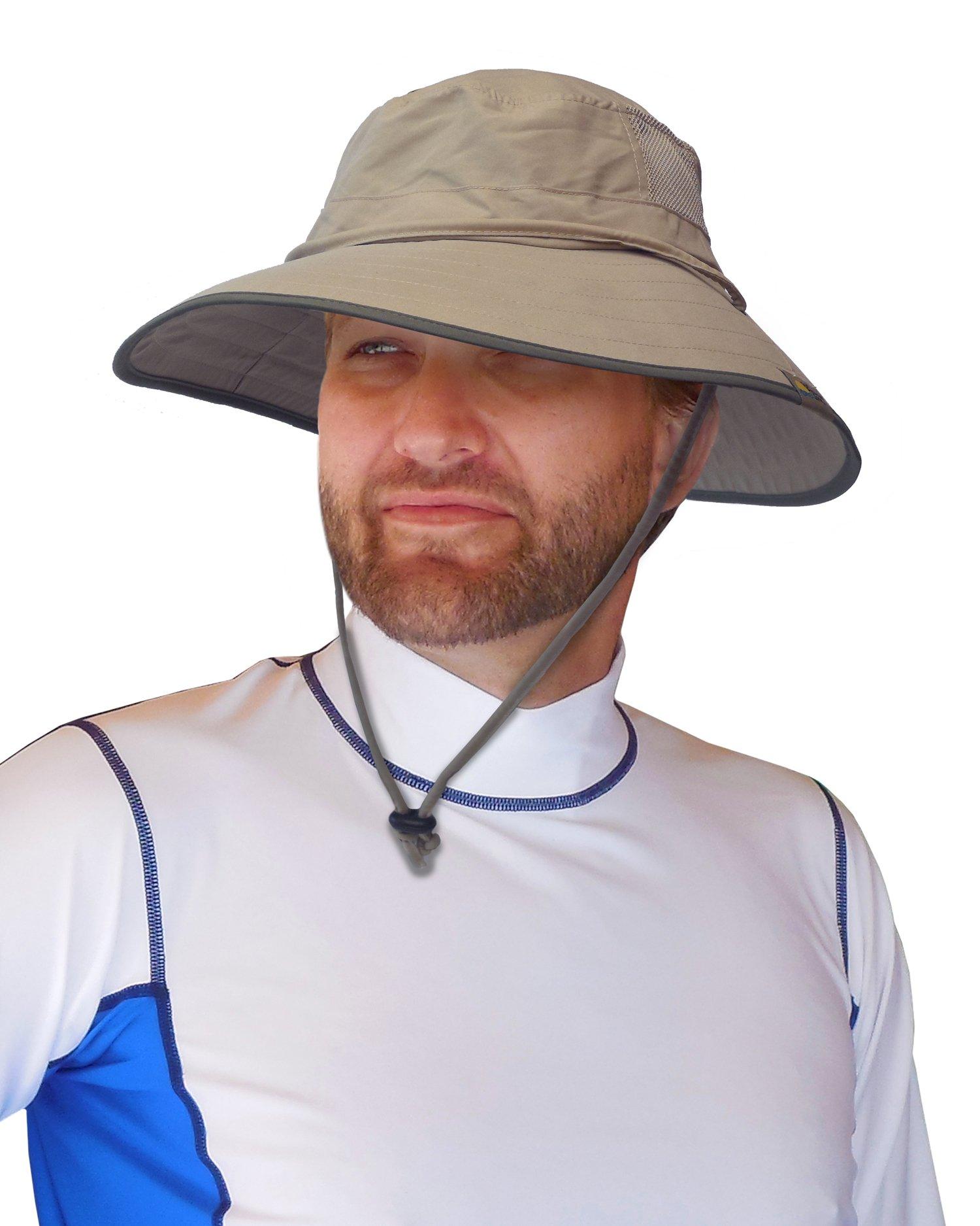 847bbd3b68d Sun Protection Zone Unisex Lightweight Adjustable Outdoor Booney Hat (100  SPF