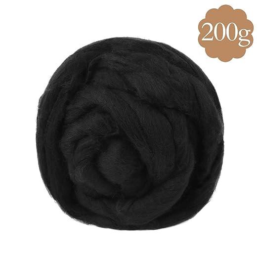 Soledi® Natural lana itinerantes Top Roving Cable de Spin manualidades de fieltro aguja fieltro 200 G: Amazon.es: Juguetes y juegos