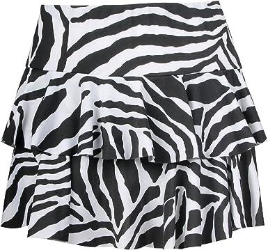Para Siempre De Las Mujeres Animal cebra Rara Mini falda: Amazon ...
