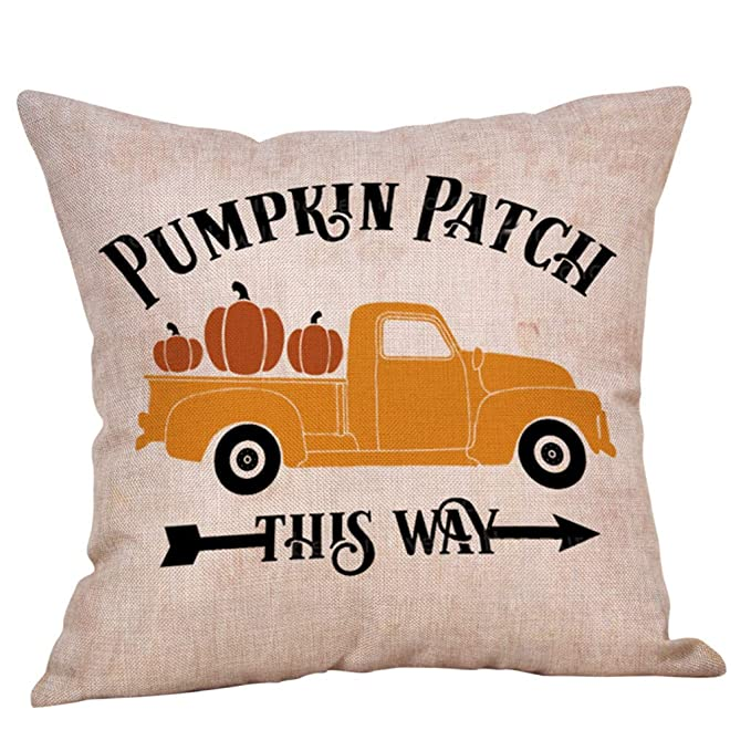 Amazon.com: Dermanony Fall Pumpkin Harvest - Fundas de ...