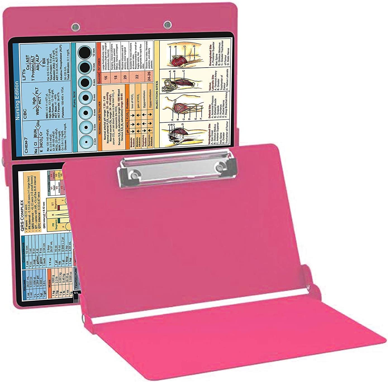 Aluminum Clipboard Nursing Edition Red Doctors Medical Students Folding Clipboard Good for Nurses Nursing Clipboard Red
