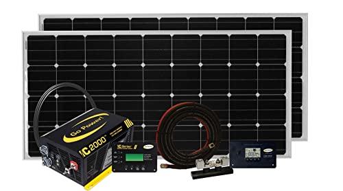 Go Power Solar Elite Complete Solar and Inverter System with 380 Watts of Solar